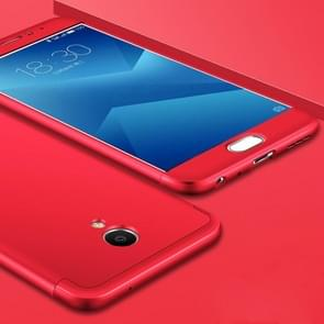 GKK Meizu M5 Note PC Three - paragraph Shield 360 Degrees Full Coverage Protective Case Back Cover(Red)