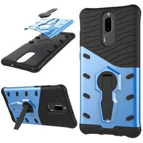 Huawei Honor 9i & Nova 2i & Maimang 6 & Mate 10 Lite & G10 PC + TPU Dropproof Sniper Hybrid Protective Back Cover Case with 360 Degree Rotation Holder(Blue)