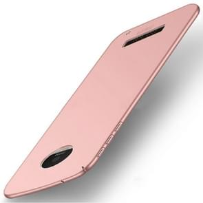 MOFI for Motorola Moto Z Play PC Ultra-thin Edge Fully Wrapped Up Protective Back Cover Case (Rose Gold)