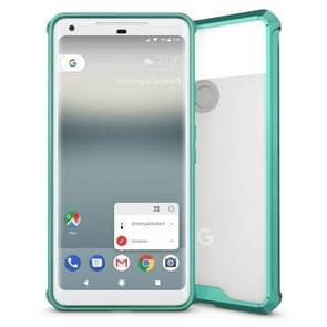 For Google Pixel 2 XL Acrylic + TPU Shockproof Transparent Armor Protective Back Cover Case(Green)