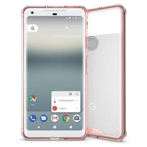 For Google Pixel 2 XL Acrylic + TPU Shockproof Transparent Armor Protective Back Cover Case(Magenta)