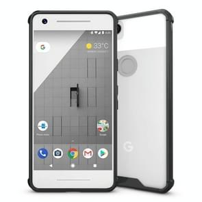 For Google Pixel 2 Acrylic + TPU Shockproof Transparent Armor Protective Back Cover Case(Black)