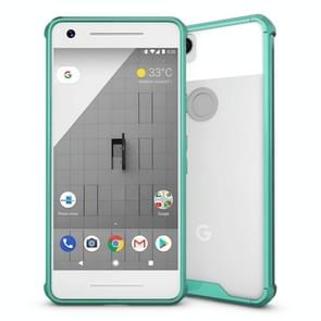 For Google Pixel 2 Acrylic + TPU Shockproof Transparent Armor Protective Back Cover Case(Green)