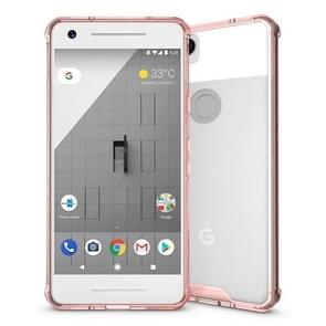 For Google Pixel 2 Acrylic + TPU Shockproof Transparent Armor Protective Back Cover Case(Magenta)