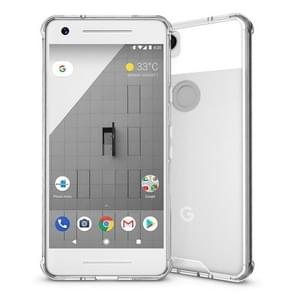 For Google Pixel 2 Acrylic + TPU Shockproof Transparent Armor Protective Back Cover Case(Transparent)