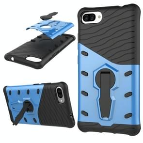 For Ausu Zenfone 4 Max ZC554KL PC + TPU Dropproof Sniper Hybrid Protective Back Cover Case with 360 Degree Rotation Holder(Blue)