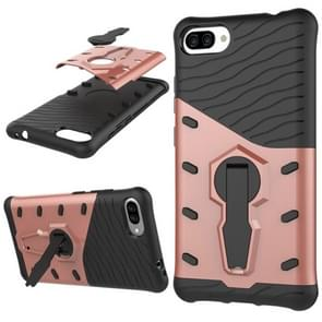 For Ausu Zenfone 4 Max ZC554KL PC + TPU Dropproof Sniper Hybrid Protective Back Cover Case with 360 Degree Rotation Holder(Rose Gold)
