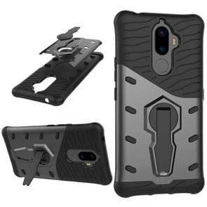 For Lenovo K8 Note PC + TPU Dropproof Sniper Hybrid Protective Back Cover Case with 360 Degree Rotation Holder(Black)