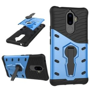 For Lenovo K8 Note PC + TPU Dropproof Sniper Hybrid Protective Back Cover Case with 360 Degree Rotation Holder(Blue)
