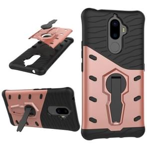 For Lenovo K8 Note PC + TPU Dropproof Sniper Hybrid Protective Back Cover Case with 360 Degree Rotation Holder(Rose Gold)