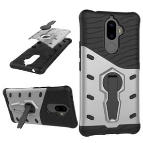 For Lenovo K8 Note PC + TPU Dropproof Sniper Hybrid Protective Back Cover Case with 360 Degree Rotation Holder(Silver)