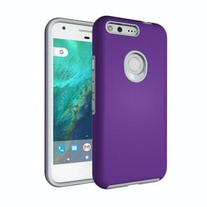 For Google Pixel Ball Texture Anti-slip PC + TPU Protective Back Cover Case(Purple)