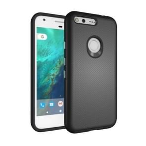 For Google Pixel XL Ball Texture Anti-slip PC + TPU Protective Back Cover Case (Black)