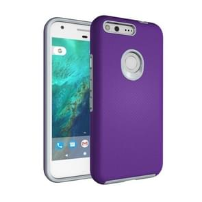 For Google Pixel XL Ball Texture Anti-slip PC + TPU Protective Back Cover Case (Purple)