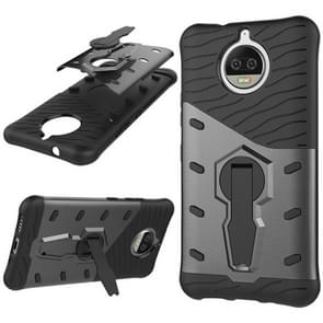 For Motorola Moto G5S Plus PC + TPU Dropproof Sniper Hybrid Protective Back Cover Case with 360 Degree Rotation Holder(Black)