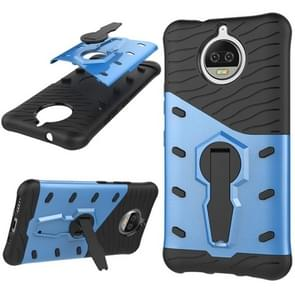 For Motorola Moto G5S Plus PC + TPU Dropproof Sniper Hybrid Protective Back Cover Case with 360 Degree Rotation Holder(Blue)