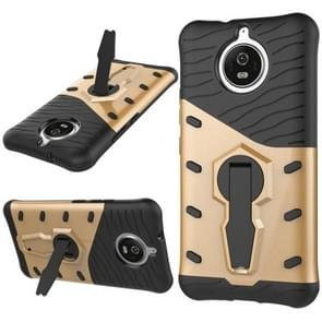 For Motorola Moto G5S PC + TPU Dropproof Sniper Hybrid Protective Back Cover Case with 360 Degree Rotation Holder (Gold)