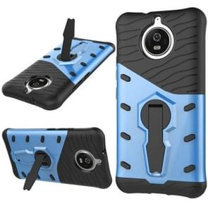 For Motorola Moto G5S PC + TPU Dropproof Sniper Hybrid Protective Back Cover Case with 360 Degree Rotation Holder (Blue)