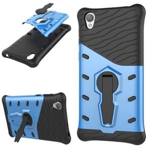 For Sony Xperia L1 PC + TPU Dropproof Sniper Hybrid Protective Back Cover Case with 360 Degree Rotation Holder(Blue)