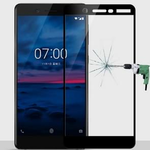 MOFI for Nokia 7 9H Surface Hardness 2.5D Arc Edge Full Screen Tempered Glass Film Screen Protector (Black)