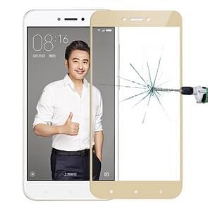 MOFI Xiaomi Redmi 4X 0.3mm 9H Hardness 2.5D Explosion-proof Full Screen Tempered Glass Screen Film(Gold)