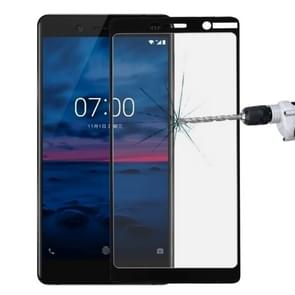 For Nokia 7 0.3mm 9H Surface Hardness 2.5D Explosion-proof Full Screen Tempered Glass Film(Black)