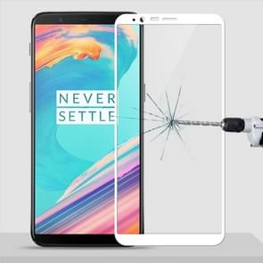 MOFI OnePlus 5T 9H Surface Hardness 2.5D Arc Edge Full Screen Tempered Glass Film Screen Protector(White)
