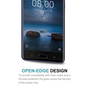 2 PCS Nokia 8 0.26mm 9H Surface Hardness 2.5D Curved Edge Tempered Glass Screen Protector