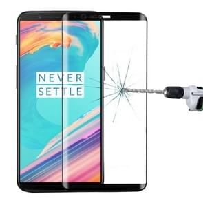 OnePlus 5T 3D Curved Edge 9H Hardness HD Tempered Glass Screen Protector(Black)
