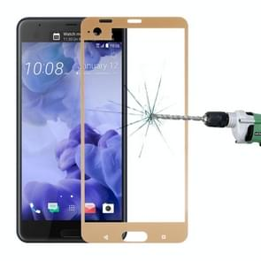 For HTC U Ultra 0.3mm 9H Surface Hardness 2.5D Curved Silk-screen Full Screen Tempered Glass Screen Protector (Gold)