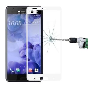 For HTC U Ultra 0.3mm 9H Surface Hardness 2.5D Curved Silk-screen Full Screen Tempered Glass Screen Protector (White)