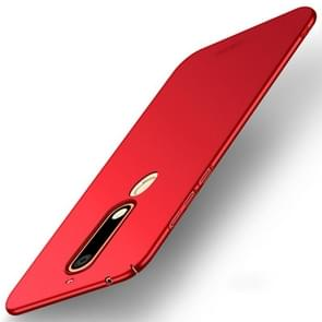 MOFI voor Nokia 6 (2018) PC ultra-dun Edge Fully Wrapped beschermings Back Cover hoesje(rood)