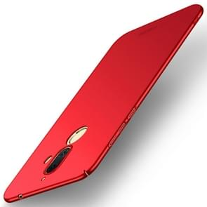 MOFI voor Nokia 7 Plus Frosted PC ultra-dun Edge Fully Wrapped beschermings Back Cover hoesje (rood)