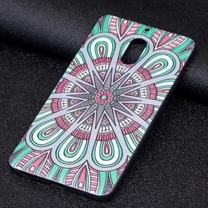 Voor Nokia 6 National Wind Disk patroon Stereo Relief Soft TPU beschermings Back hoesje