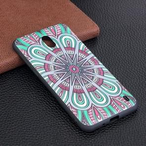 Voor Nokia 2 National Wind Disk patroon Stereo Relief Soft TPU beschermings Back hoesje