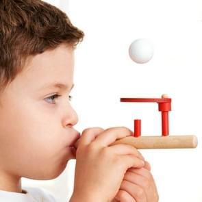 Classic houten Games Floating Blow Pipe & Balls Blowing Toy voor Children