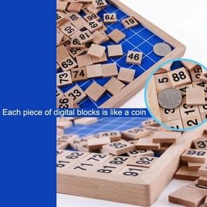 houten Montessori Teaching Aids Math 1 - 100 Consecutive Numbers Counting Board Plate Toy