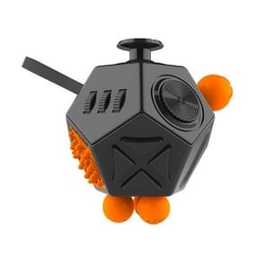 12 Sides Fidget Cube Generation 2 Decompression Toy Desk Magic Dice Funny Relieves Anxiety en Stress Toys Creative Gift met Gears & Rotating Dial & 360 Degree Joystick voor Adults en Children(zwart)