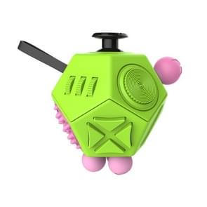 12 Sides Fidget Cube Generation 2 Decompression Toy Desk Magic Dice Funny Relieves Anxiety en Stress Toys Creative Gift met Gears & Rotating Dial & 360 Degree Joystick voor Adults en Children(groen)