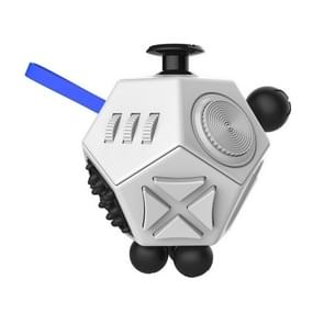 12 Sides Fidget Cube Generation 2 Decompression Toy Desk Magic Dice Funny Relieves Anxiety en Stress Toys Creative Gift met Gears & Rotating Dial & 360 Degree Joystick voor Adults en Childrenwit