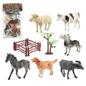 1280-4 6 in 1 Cute Animal Kingdom Decoration Toys Set with Fences