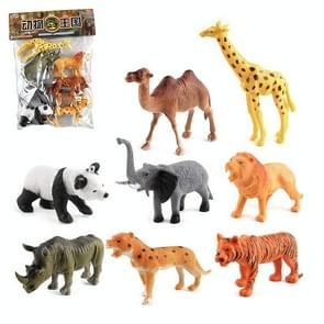 1280-1 8 in 1 Cute Animal Kingdom Decoration Toys Set