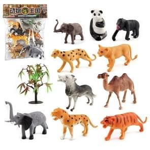 1280-3 10 in 1 Cute Animal Kingdom Decoration Toys Set
