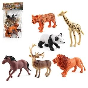 1280-2 6 in 1 Cute Animal Kingdom Decoration Toys Set