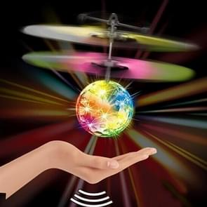 Mini Fun Kids Toy Suspended Crystal Ball Sensing Aircraft Hand Induction Flying Aircraft with Colorful LED Light, without Remote Control