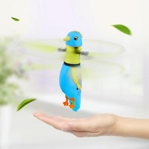 CX-51 USB Charging Induction Flying Parrot Singing Bird Flying Toy with LED Flashing Light, Age Range: 8 Years Old Above, Without Remote Control(Blue)