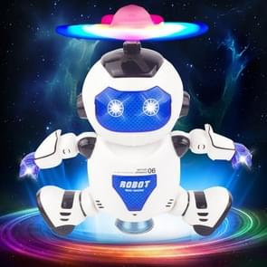 11006 3-CH Colorful LED Music Dancing Robot, Size: About 15.7 x 8.4 x 21.5cm(Blue)