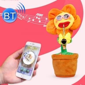 Sunflower Sax Style blauwtooth Plush Children Adult Toy ,Support USB laad & Batterij(Oranje)