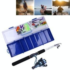 150 PCS Fishing Set 6 Sections 0.44m-1.6m Portable Telescopic Fishing Pole with Fishing Reel & Baits & Treble Hooks & Fishing Supplies Gadgets