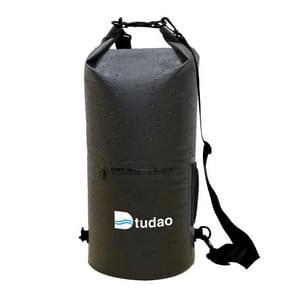 Dtudao Outdoor Waterproof Dry Bag Dry Sack with Dual Shoulder Strap & Bottle Holder, Capacity: 20L(Black)